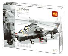 Wange 4002 WZ-10 Fiery Thunderbolt Helicopter Gunship Building Block Set