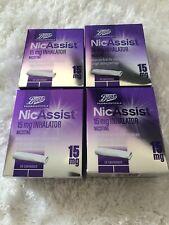 4x NICASSIST 15mg Inhalator - 4x20 Cartridges - (same manufacturer as nicorette)