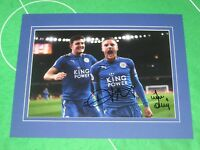 Jamie Vardy & Harry Maguire Signed & Mounted Leicester City 2017/18 Season Photo