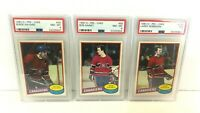 1980 OPC Montreal Canadiens PSA Graded Lot Robinson, Gainey, and Savard