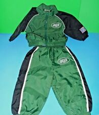 Adorable NFL New York Jets Infant Nylon Sweat Suit 3 to 6 Mons A Jets Fan Must