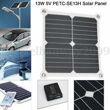 13W 5V Semi-Flexible Mono Solar Panel Dual USB Battery Charger For Camping Phone