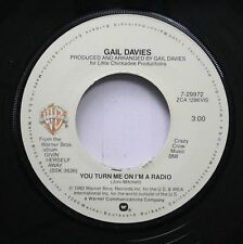 Country 45 Gail Davies - You Turn Me On I'M A Radio / All The Fire Is Gone On Wa