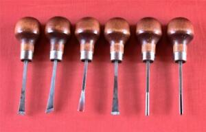 Used Ramelson Basic Palm Hand Forged High Carbon Tool Steel Woodcarving 6pc Set
