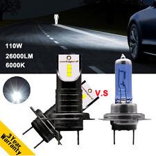 H7 LED Headlight Bulbs Kit 110W 26000LM 6000K 12CSP Chip High Low VS Xenon HID