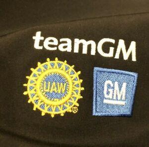 GM General Motors UAW Automotive Motor City Men Black Soft Shell Jacket Coat 2XL