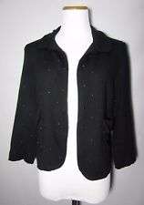 """Pins and Needles Urban Outfitter Black Dot Crop Knit Blazer Jacket Top Chest 35"""""""