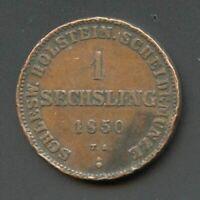 Schleswig-Holstein 1850 1 Sechsling (M1834