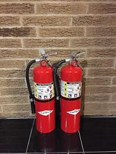 SET OF (2) NEW AMEREX 10lb ABC FIRE EXTINGUISHER B456 AND NEW CERTIFIED TAG