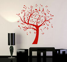 Vinyl Wall Decal Music Tree Notes Musical Art Interior Ideas Stickers (ig4775)