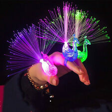 1pcs Finger Light Up Ring Laser LED Party Rave Favors Glow Beams Toys Peacock