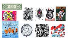 Hatch 10 años aniversario Street Art 10 sticker Pack multicolor rectangular