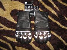 men's HARLEY DAVIDSON Leather Gloves BOUNDARY BAR SHIELD M Medium 97209-14VM