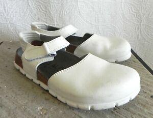 Alpro by Birkenstock Germany Slingback Ivory Mary jane Leather Clag Size 10