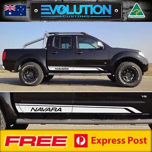 Navara D40 Nissan Side Stripe Decal Sticker Kit SUIT Double Dual Cab Ute