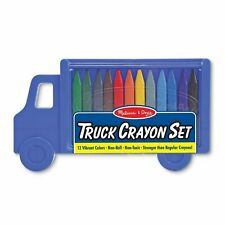 Melissa And Doug 12 Colors Truck Crayon Set NEW Toys