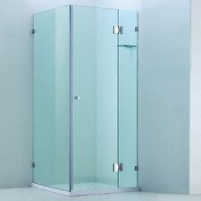 1100 x (1000 Door) mm Rectangular Frameless Shower Screen 10 mm