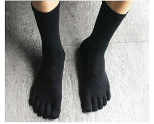 New! 5 Pairs Mens Women Casual Dress Comfortable Five Finger Separate Toe Socks