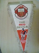 Original Pennant- Red Devils 1968 European Cup Winners- Manchester United