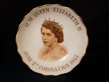 "Tuscan England Small Bowl Plate QUEEN ELIZABETH II CORONATION JUNE 2,1953 4.25""d"