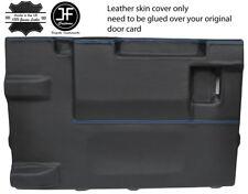 Blue Stitch PORTELLONE PORTA CARD LTHR Copertura Per Land Rover Defender 90 03-17 3DR