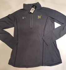 NEW! UNDER ARMOUR Navy Women's  1/4 Zip Pullover Long Sleeve Sz Small