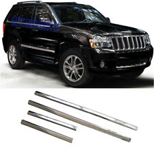fit 2005-2009 Jeep Grand Cherokee Chrome Door Side Body Molding Trim Garnish 4pc