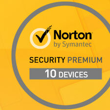 NORTON SECURITY 2018 10 Geräte 1 Jahr 10 PC Mac Tablet Internet Security 2017