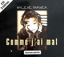 CD SINGLE DIGIPACK MYLENE FARMER COMME J'AI MAL EDITION LIMITEE COLLECTOR 1996