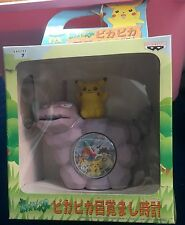 Pokemon Pikachu Onix Alarm Clock Brock Misty Ash Togepi Figure Toy Pokeball New