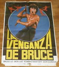 BRUCE'S FISTS OF VENGEANCE Original 1984 Film Poster 100x70cm Spain Bruce Le Lee