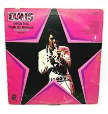 Vtg 1972's ELVIS PRESLEY LP record of Sings Hits from His Movies Vol.1 CAS-2567