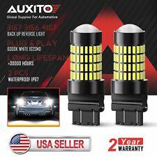AUXITO 3157 3156 3057 White Reverse Brake LED Light Bulb For Ford 6000K 2800LM
