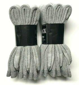 Premium  Gray 34% Merino Wool, 34%Acrylic, Thermal Crew Sock SZ 10-13.