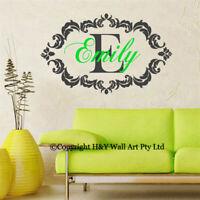 Custom Personalised Name Wall Sticker Kids Room Decal Art Mural Nursery Decor AU