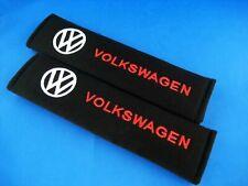 VW Volkswagen Seat Belt Cover Pads One Pair 2pcs Shoulder emblems Car Polo Golf