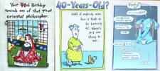 FUNNY 40th BIRTHDAY CARD Recycled Paper Greetings / Marian Heath