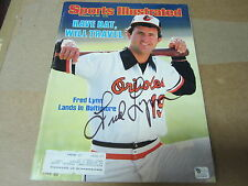 Fred Lynn Autographed Sports Illustrated magazine March 18, 1985  (GAI)
