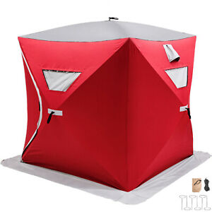Ice Shelter Fishing Tent Pop-up 3-person Shanty Oxford Fabric Accessories Room
