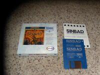 Sinbad and the Throne of the Falcon Commodore Amiga with small box & booklet