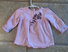 Greendog Girls Size 18 Months Lavender Top With Florals In The Front
