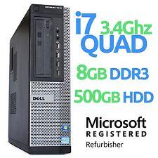 Dell Optiplex 7010 Desktop Quad Core i7 3770 3.4GHz 8GB 500GB Windows 10