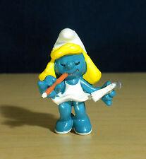 Smurfette Secretary Smurf Pencil Vintage Smurfs Figure Toy PVC Figurine 20140