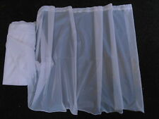 "WINDOW NET CURTAIN VOILE WHITE 72"" 180CM DROP LEAD WEIGHT BOTTOM FINISHED TOP"
