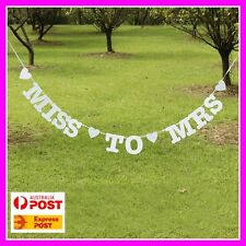 Miss to Mrs Bridal Shower Banner Sign - Kitchen Tea Party Decorations Engagement