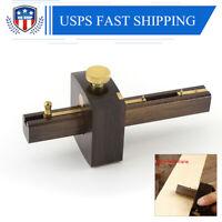 Marking Mortise Gauge Carpentry Scribe Ebony Copper Wood Work Scraper Tools US