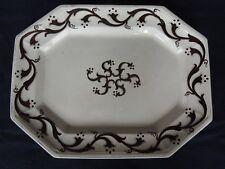 stunning 1850s white Ironstone tea leaf Platter Pinwheel copper luster 15.5 x 12