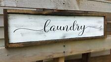 LAUNDRY ROOM wood sign farmhouse laundry room sign farm rustic home decor sign