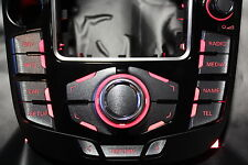 MMI Aufkleber Stahl geb. --PFEIL-- für Audi A4/ RS4 8K A5/S5 8T Q5 mmi 2G und 3G