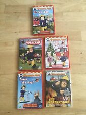 5 X Fireman Sam Dvd Bundle